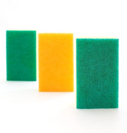 sponge over white Stock Photo - 18131484