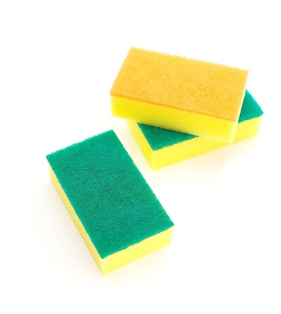 sponge over white  Stock Photo - 18131490