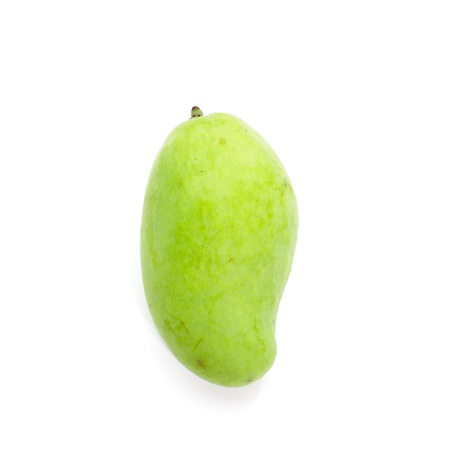 Green mango isolated on a white background  photo
