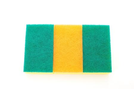 sponge over white Stock Photo - 18148597