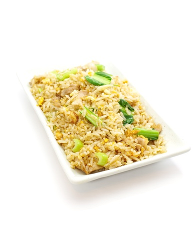 side order:  fried rice an excellent side order with chinese food  Stock Photo