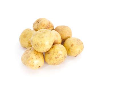New potato isolated on white background close up Stock Photo - 18180318