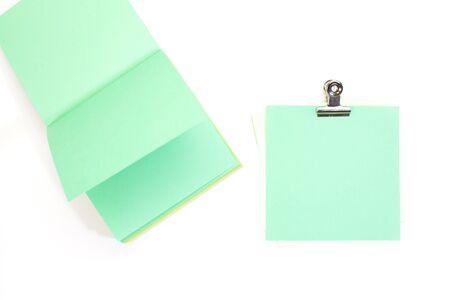 assert: Green sticker note Stock Photo