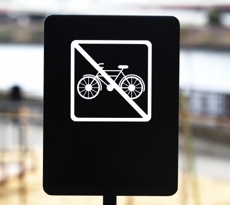 No bicycle allow sign  photo