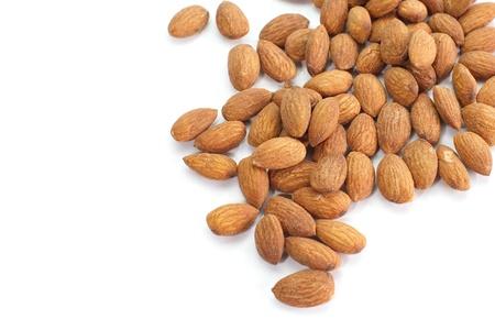 Almond isolated on white  版權商用圖片