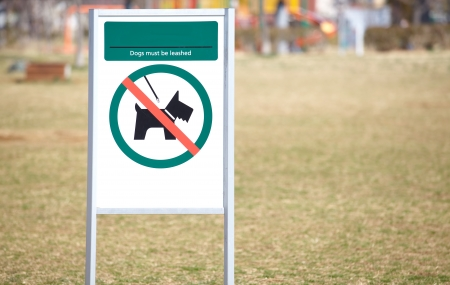Signboard  no dogs   Stock Photo