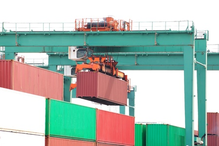 cargo container with crane  Stock Photo - 18315385
