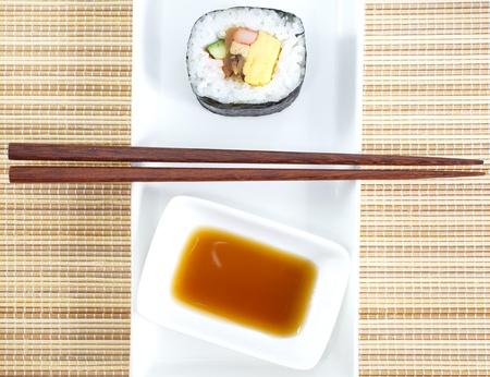 Makizushi  Delicious sushi rolls  photo