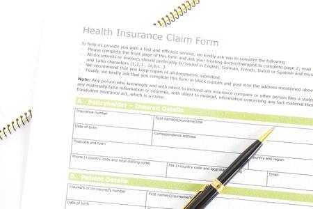 Health Insurance Claim Form Stock Photo - 18573668