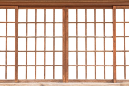 texture of Japanese sliding paper door Shoji  photo