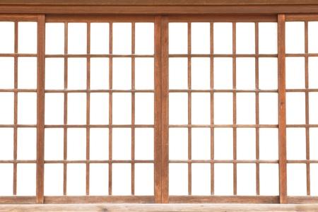 texture of Japanese sliding paper door Shoji  Stock Photo