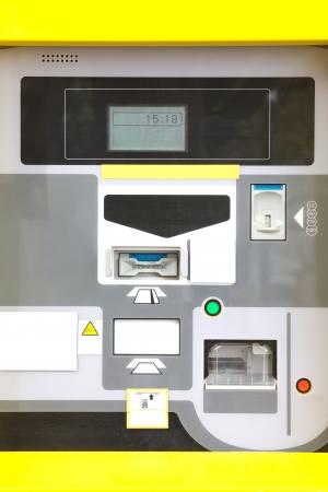 電子駐車場券売機 写真素材