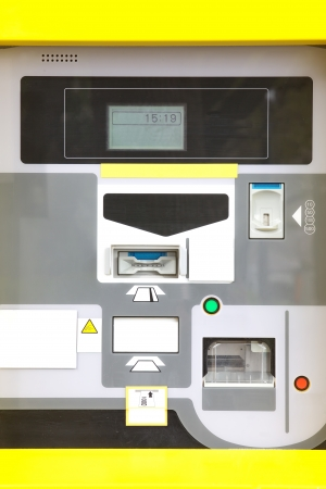 parking ticket: electronic parking ticket machine