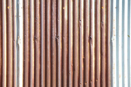 rusty corrugated iron metal texture Stock Photo - 18913604
