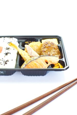 Japanese ready-made lunchbox, Bento  photo