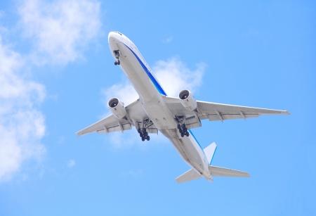 airplane engine: airplane take off  Stock Photo