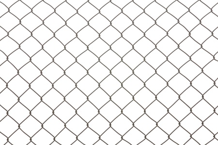 chain fence: iron wire fence