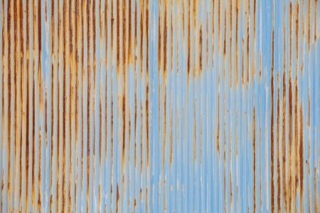 A rusty corrugated iron metal texture  Stock Photo