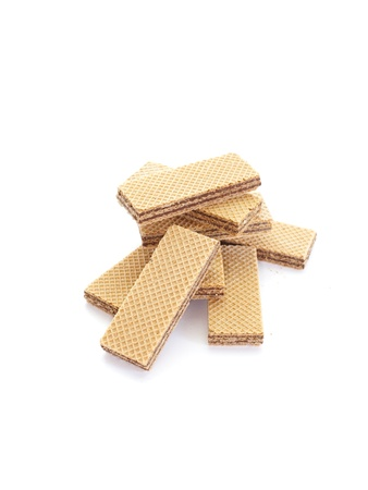Wafers isolated on white background  写真素材