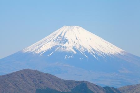 Mont Fuji au printemps Banque d'images