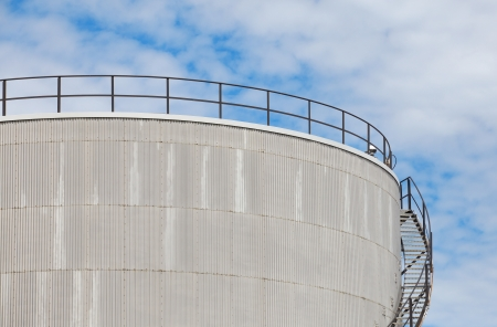 Oil storage tank at a refinery photo