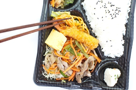 Japanese ready-made lunchbox, Bento  photo