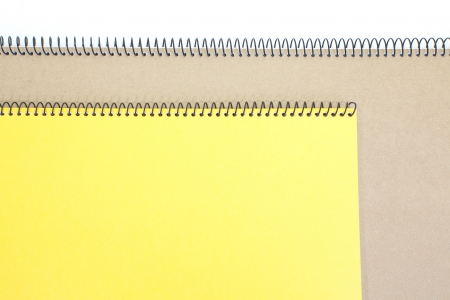 yellow note book isolate on white background  photo