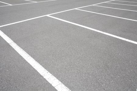 駐車場の空きスペース 写真素材