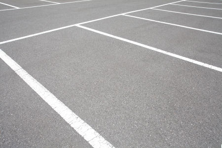 Lege ruimte in een Parking Lot Stockfoto