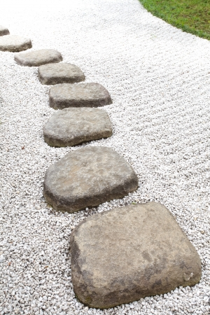Zen stone path in a Japanese Garden Stock Photo - 20421393
