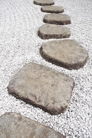 Zen stone path in a Japanese Garden Stock Photo - 20421388