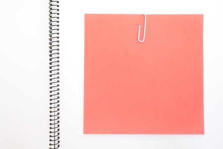 instigator: Colored papers  with staple