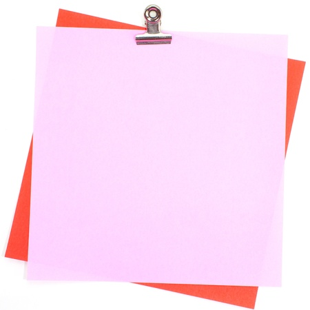 instigator: Colored papers with clip