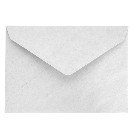 Blank envelope isolated on white background photo