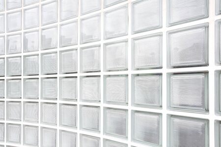 glass block wall background  photo