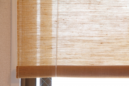 bamboo blind pattern background  写真素材