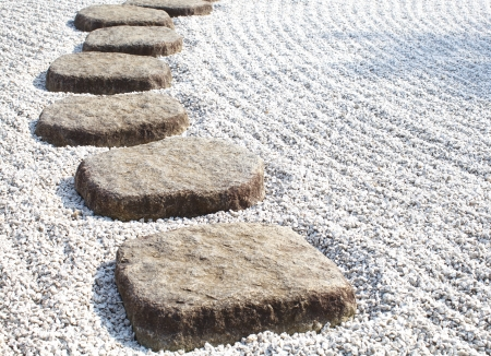 Zen stone path in a Japanese Garden Stock Photo - 20839297