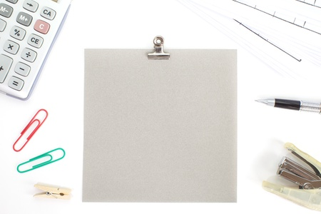 instigator: Colored papers with staple and office stationery