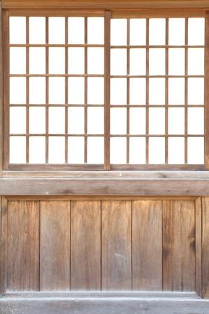 일본어 슬라이딩 종이 문 질감