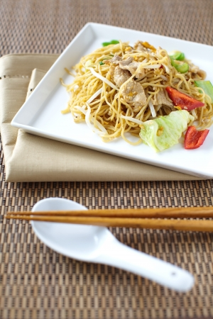 mian: chinese stir-fried noodles  Stock Photo