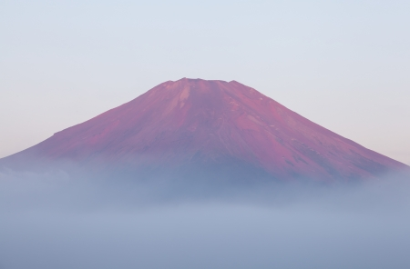Mt Fuji sunrise time in summer photo