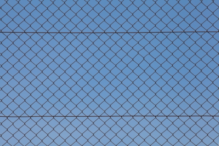 chain fence: Wire fence
