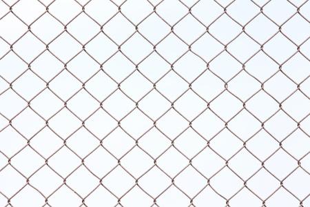 galvanized: Wire fence