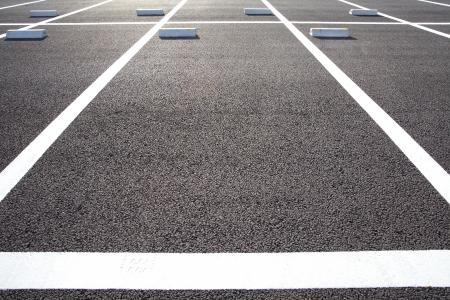 Lege parkeerplaatsen