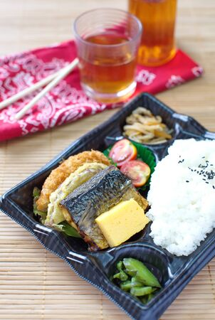 bento: Japanese ready-made lunchbox, Bento Stock Photo