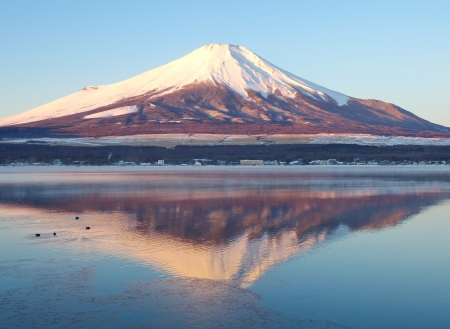 Mountain Fuji in winter season photo