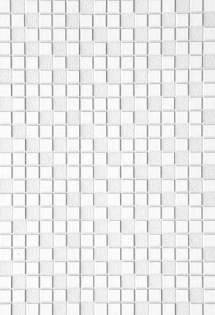 pink floyd: white tile wall texture, seamless Stock Photo