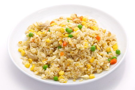 Shrimp fried rice  Stock Photo