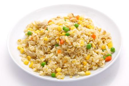 fried egg: Shrimp fried rice  Stock Photo