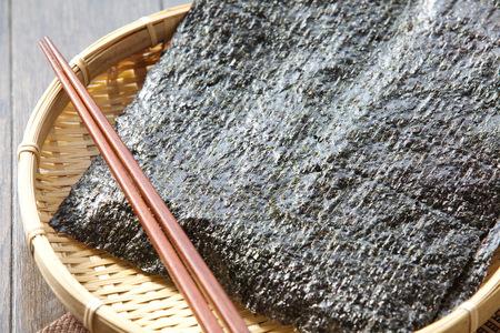 nori: Sheet of dried nori ,dried seaweed